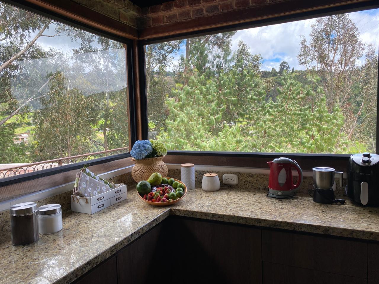 Cocina casa Eucalipto en Yerbabuena